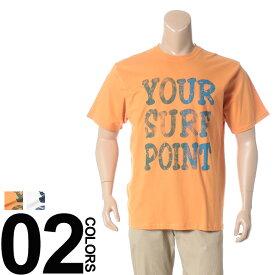 返品・交換不可 在庫処分価格 大きいサイズ メンズ Tシャツ 抗菌防臭 綿100% サーフプリント クルーネック 半袖 Tシャツ B&T CLUB