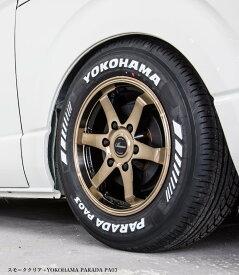 舞杏-BUAN- KBレーシング 16インチ厳選国産タイヤ・ホワイトレター【215/65R16Cホイールタイヤセット】 200系ハイエースにオススメ 6型対応