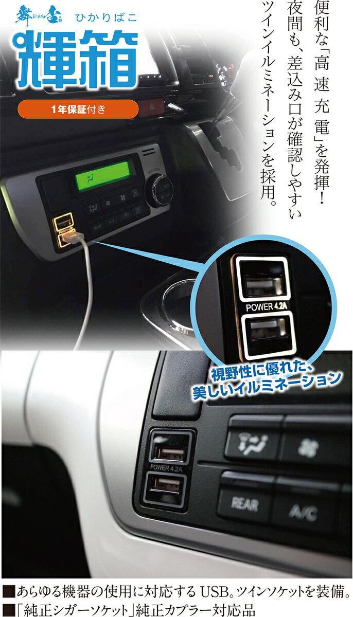 輝箱POWER USB4.2ツインソケット