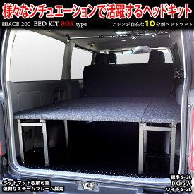 ハイエース ベッドキット 標準S-GL用 BOX型トランポ仕様 パンチカーペット #1