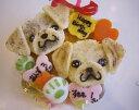 似顔絵ケーキ♪米粉15顔2個(ワンコケーキ 犬用ケーキ 犬の誕生日 犬のおやつ 犬のお祝い 犬のプレゼント)