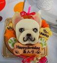 似顔絵ケーキ♪18cm顔1個(お誕生日ケーキ ワンコケーキ 犬用ケーキ 犬の誕生日 犬のおやつ 犬ケーキ 犬のお祝い 犬のプレゼン…