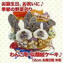 似顔絵ケーキ♪米粉使用12cm 顔2個(お誕生日ケーキ ワンコケーキ 犬用ケーキ 犬の誕生日 犬のおやつ 犬ケーキ 犬のお祝い 犬の…