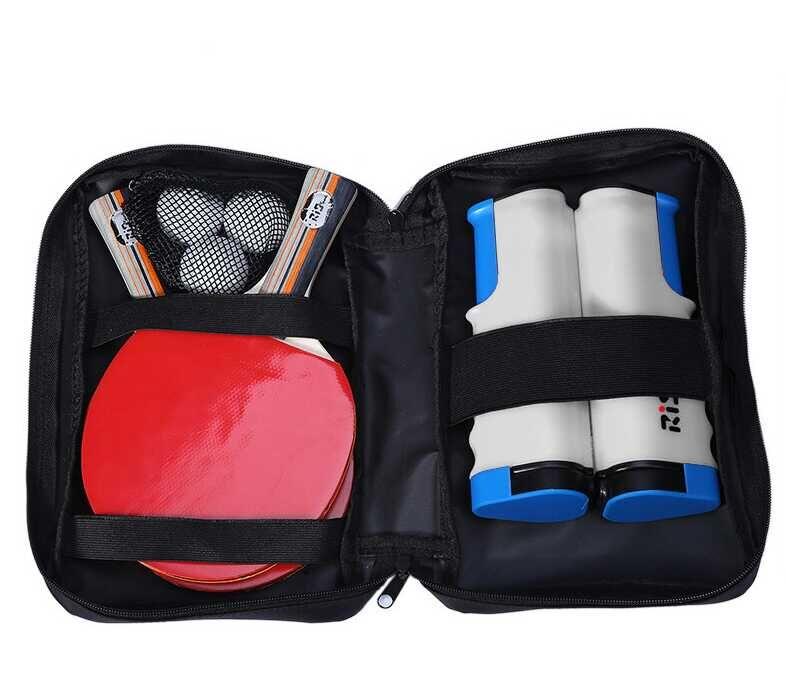 ファミリー卓球セット ネット×1 ラケット×2 ボール×3 専用ケース付 グレー