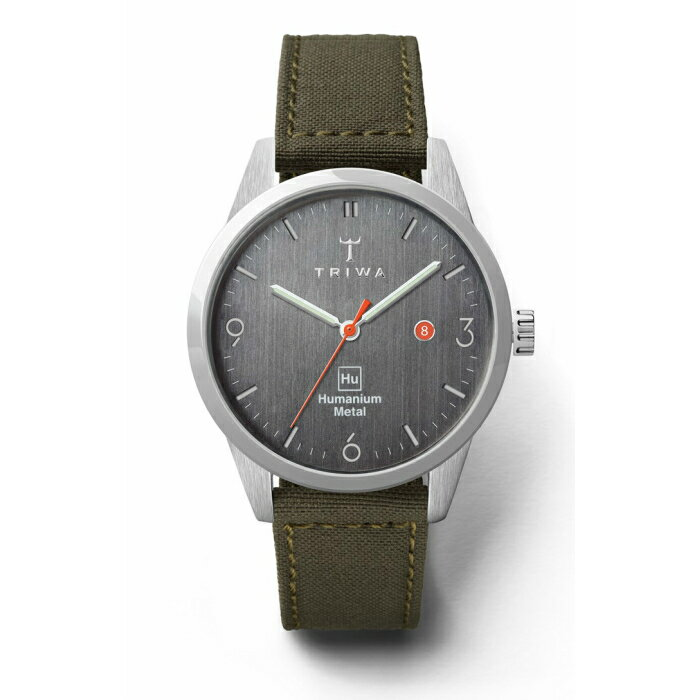 TRIWA x Humanium Metal トリワ ヒューマニウム メタル 腕時計 34mm ダークグレー カーキ レディース 時計