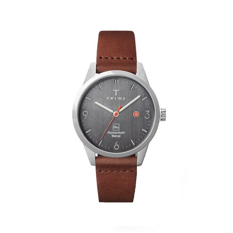 TRIWA x Humanium Metal トリワ ヒューマニウム メタル 腕時計 34mm ダークグレー ブラウン レディース 時計