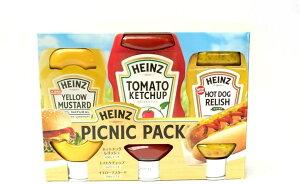Heinz ハインツ ピクニックパック ケチャップ 567g レリッシュ 375g マスタード 396g ホットドッグ コストコ 通販 ホットドッグ 食品