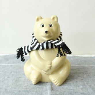 正規品【2020年プレミアムマフラー付き】PolarBearMoneyBoxしろくま貯金箱|白くま貯金箱シロクマ貯金箱フィンランドちょきんばこPLASTEPNordeaBankMKTresmerMKTresmerプレゼントギフト雑貨熊おしゃれ