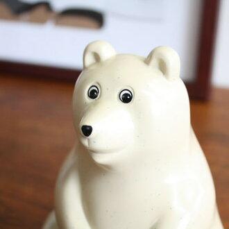 【マフラー付き】PolarBearMoneyBoxしろくま貯金箱|白くま貯金箱シロクマ貯金箱フィンランドちょきんばこPLASTEPNordeaBankMKTresmerMKTresmerプレゼントギフト雑貨熊おしゃれ