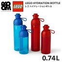 【正規品】LEGO HYDRATION BOTTLE 0.74L(レゴ ハイドレーションボトル 0.74L )レゴ 水筒 ボトル 透明 赤 青 おもちゃ 子供 キッズ レゴシリーズ プレゼント 丸 ブロック こども 子ども オモチャ 可愛い オシャレ 男 女 顔