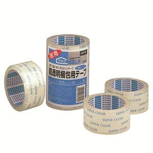 【ポイント最大19.5倍】【あす楽対応・送料無料】ニトムズ - 超透明梱包用テープ SC-01N(48mm×50m) 3巻入 - J6130