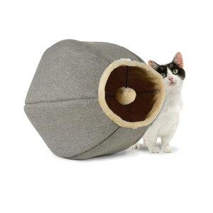 猫のトンネル ユナイテッドペット キャットケイブ・リネン【猫/おもちゃ/隠れ家】