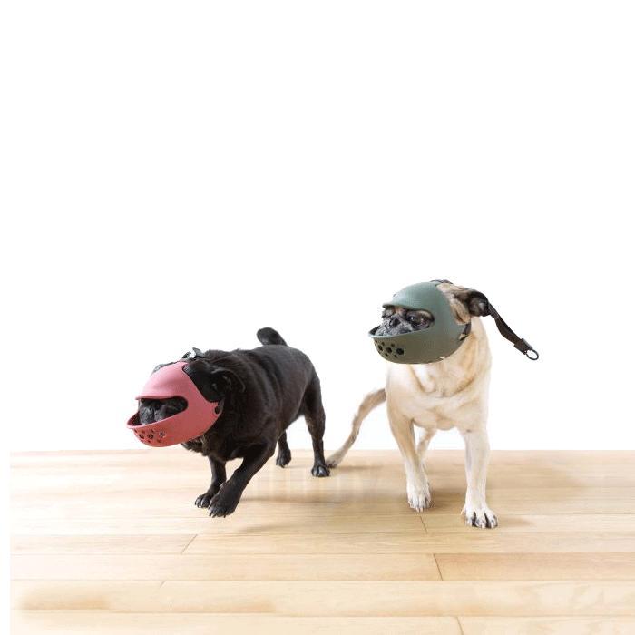 口輪に見えない口輪!!しつけ用や拾い食い・無駄吠え・噛み付き防止に。[正規品] OPPO(オッポ) quack face(クァックフェイス) [全2色]【犬/しつけ/口輪 /パグ/ペキニーズ/ボストンテリア/短吻種】