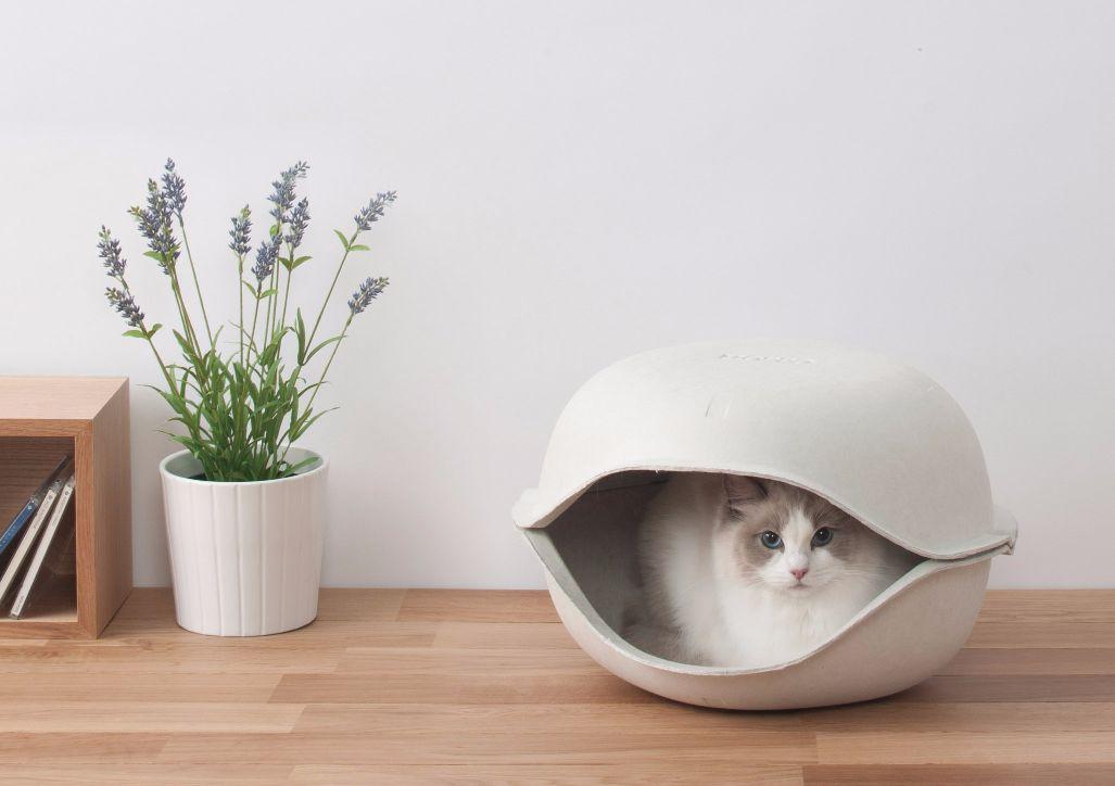 猫ちゃんのドーム型隠れ家!! [正規品]OPPO (オッポ) CatShell (キャットシェル) 2個入【猫 ベッド ドーム型 おしゃれ】