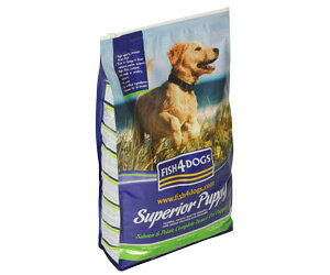 【多くの魚を使用しているペットフード】 フィッシュ4ドッグ スーペリア パピー 子犬 1.5kg  【犬/ドックフード/魚/無添加/穀物不使用】