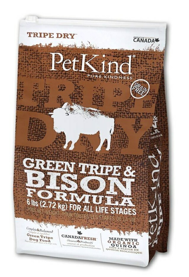 【送料無料】Pet Kind ペットカインド ドッグフード グリーントライプ&バイソン 11.34kg【犬/高品質/オーガニック/ドッグフード】