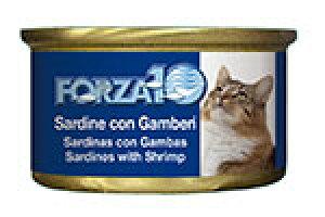 アレルギーに配慮 FORZA10 フォルツァディエチ 猫用ウェットフード イワシ&エビ 85g【猫/成猫/フレーク/ウェットフード】