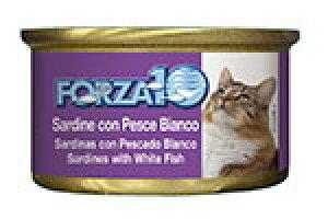 アレルギーに配慮 FORZA10 フォルツァディエチ 猫用ウェットフード イワシ&白身魚 85g【猫/成猫/フレーク/ウェットフード】