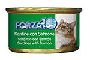アレルギーに配慮 FORZA10 フォルツァディエチ 猫用ウェットフード イワシ&サーモン 85g【猫/成猫/フレーク/ウェットフード】
