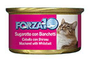 アレルギーに配慮 FORZA10 フォルツァディエチ 猫用ウェットフード サバ&シラス 85g【猫/成猫/フレーク/ウェットフード】
