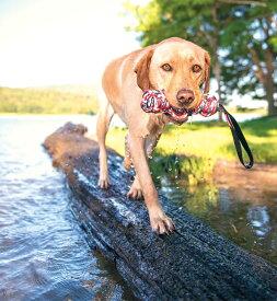 [特殊な製法で編んであるので壊れにくい] EZY DOG イージードッグ ビーバーテイル Lサイズ 【犬 おもちゃ 引っ張り 丈夫 ロープ】