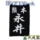 剣道 垂ゼッケン 垂ネーム 3D刺繍 垂用ゼッケン 大/中/小 武道園