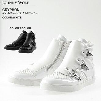 约翰尼狼 (约翰尼狼) 鹰头狮编织可切换高切运动鞋 (2 颜色))