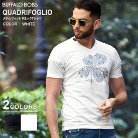 BUFFALO BOBS バッファローボブズ QUADRIFOGLIO(クアドリフォリオ)メタルフィット Tシャツ
