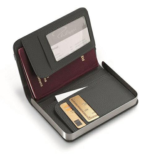 送料無料 Philippi フィリッピ パスポートケース カード収納 ダークグレー 128101 インテリア雑貨の専門店 ファッション雑貨 小物 おしゃれ シンプル モダン プレゼント プチギフト 贈り物 リッチボーイ