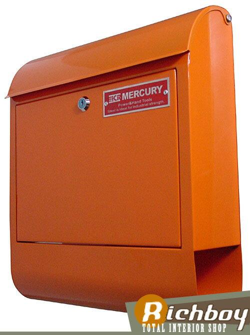 【送料無料】 MERCURY マーキュリー MCR Mail Box 郵便ポスト メールボックス 郵便受け 鍵付き オレンジ C062 【インテリア雑貨の専門店 オシャレ レターボックス エクステリア ポスト おしゃれ 雑貨 リッチボーイ】