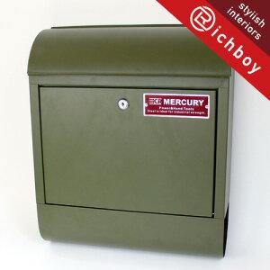 【送料無料】MERCURY マーキュリー MCR Mail Box メールボックス 郵便ポスト マットオリーブ インテリア雑貨の専門店 玄関 門用エクステリア ポスト おしゃれ プチギフト 贈り物 リッチボーイ