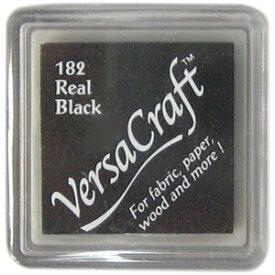 おなまえスタンプ【バーサクラフトS】布用スタンプパッドリアルブラック水性顔料インク
