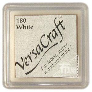 スタンプ台 バーサクラフト Sサイズ ホワイト 白 布用スタンプパッド インクパッド 水性顔料インク ツキネコ VKS-180