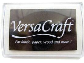 スタンプ台 バーサクラフト Lサイズ リアルブラック 黒 布用スタンプパッド インクパッド 水性顔料インク ツキネコ VK-182