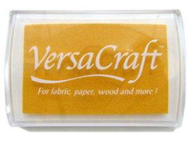 スタンプ台 バーサクラフト Lサイズ レモンイエロー 黄色 布用スタンプパッド インクパッド 水性顔料インク ツキネコ VK-111