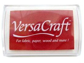 スタンプ台 バーサクラフト Lサイズ ポピーレッド 赤 布用スタンプパッド インクパッド 水性顔料インク ツキネコ VK-114