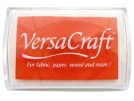 スタンプ台 バーサクラフト Lサイズ タンジェリン オレンジ 橙色 布用スタンプパッド インクパッド 水性顔料インク ツキネコ VK-112