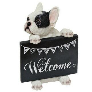 ◆フレンチブルドック◆フレンチブルパイド◆welcomeドッグ/Fブルグッズ/ガーデン/ガーデニング/ギフト/プレゼント お祝い 開店 新築 お出迎え