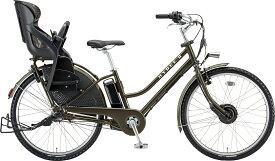 ブリヂストン 電動自転車 HYDEE.II(ハイディー ツー)【3人乗り対応】 2020年モデル HY6B40-KHA T.XHカーキ(ツヤ消しカラー) 26インチ
