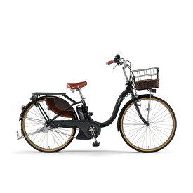 2021年モデル 26インチ YAMAHA(ヤマハ) PAS With DX(パスウィズデラックス) PAS With DX PA26WDX-BK2 マットブラック2 電動自転車