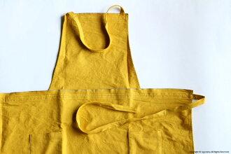 JOBU, apron long -L / mustard (yellow)