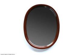 曲木鏡(ウォールミラー) 小判型, 小 / 古代色【柳宗理】