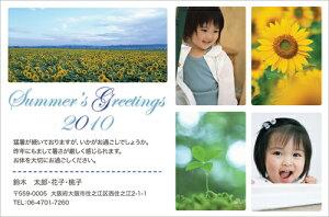 暑中見舞いはがき(暑中見舞いハガキ)おしゃれな写真入りデザインポストカード制作! SN004【30枚印刷】結婚・出産・引越報告としても☆
