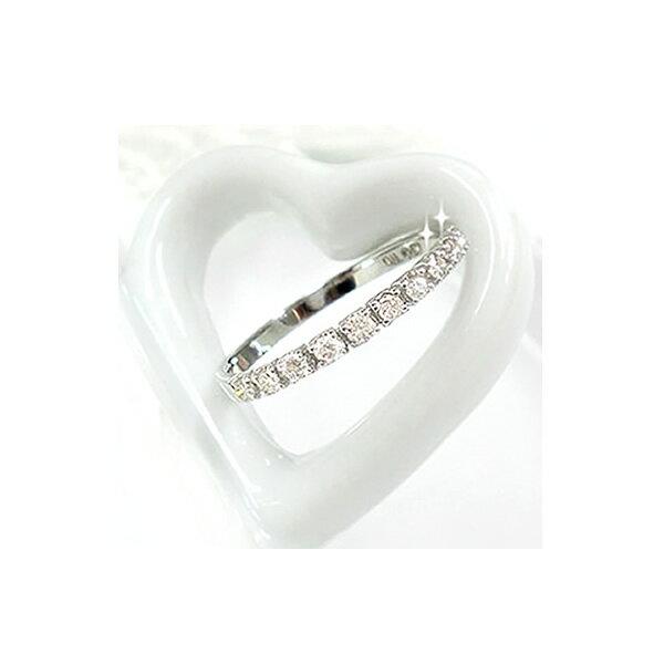 ハーフエタニティ K10 リング 天然ダイヤ 0.2ct ダイヤモンド 誕生石 ゴールド ピンクゴールド ホワイトゴールド【送料無料】