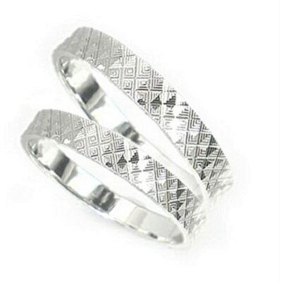 結婚指輪 ペアリング Pt900 指輪 マリッジリング カットリング 送料無料