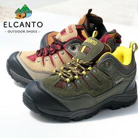 トレッキング 23〜27cm,28cmエルカント enbridge 街履きでも可ローカットモデル 防水 撥水 軽量 カジュアルトレッキングシューズ「EL-813エンブリッジ」レディース メンズ 靴 ローカット ELCANTO アウトドア ハイキング キャンプ 軽量 登山道