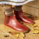 サイドゴア ブーツ レザーシューズ コンフォートシューズ 靴 歩きやすい 牛革 リンネル ナチュラン 本革 レディース FeeL フィール