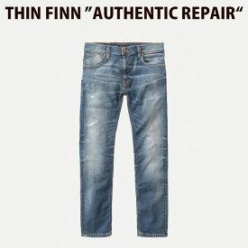 Nudie Jeans ヌーディージーンズ THIN FINN シンフィン AUTHENTIC REPAIR L30【お買い物マラソン期間限定セール】