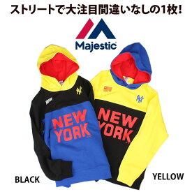 マジェスティック Majestic 切り替えパーカー HIP HOP【あす楽対応商品】