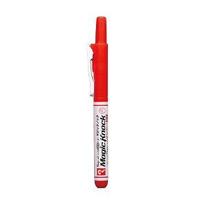 【ネコポス対応〇】寺西化学工業 マジックインキ マジックノック [細字/赤・レッド] MKHP-T2 ノック式 油性ペン 携帯 便利 作業効率UP